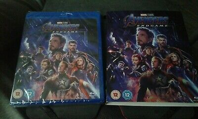 Avengers Endgame Blu-Ray With Box Cover Brand New 2 Disc Set