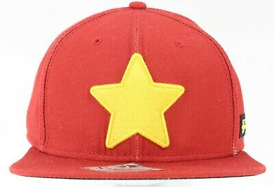 Cartoon Network Steven Universe NEW Red Yellow Star Patch Poly Cotton Cap 289T