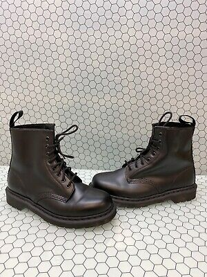 Dr. Martens 1460 MONO Black Smooth Leather Lace Up Ankle Boots Men's Size 10