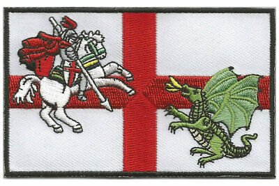 Embroidered  ENGLAND PATCH with St George and the Dragon Saint George's day