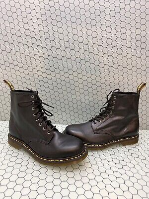 Dr. Martens 1460 Black Leather 8-Eye Lace Up Ankle Boots Men's Size 12