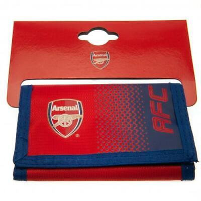 Arsenal FC Official Crested Red Nylon Wallet With Multiple Slots The Gunners