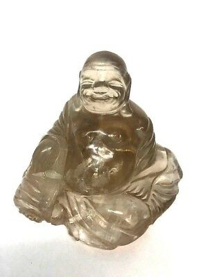 RARE Chinese Crystal Rock Finely Carved Buddha