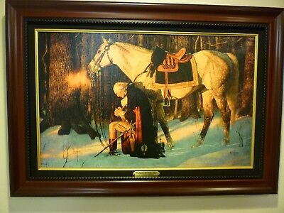 "Arnold Friberg G.Washington "" Prayer at Valley of Forge"" w/COA 15""X 24"" Canvas"