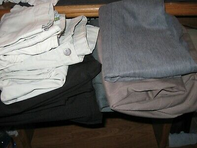 Womens Pants Size 10 Briggs New York Lee Riders Old Navy Jeans Capris Lot 7 Pair