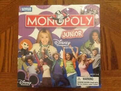 Parker Brothers MONOPOLY Junior Disney Channel Edition NEW in Sealed Box