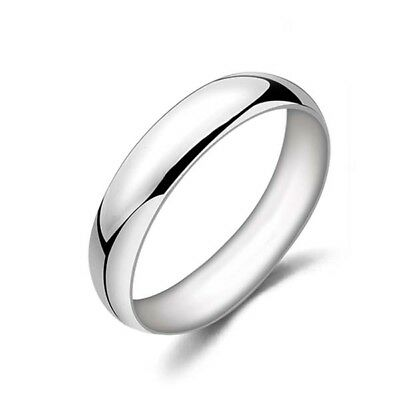 Smooth Mens Or Womens Band Ring Silver Plated Size 10 Fashion Jewelry Classic