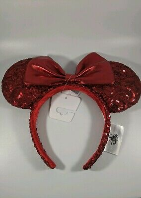 Disney Parks Pirate Redd Red Sequin Minnie Mouse Ears Headband NWT