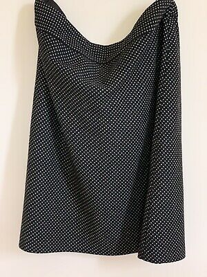 Oasis Womens Size 16 Black/Grey Patterned Skirt