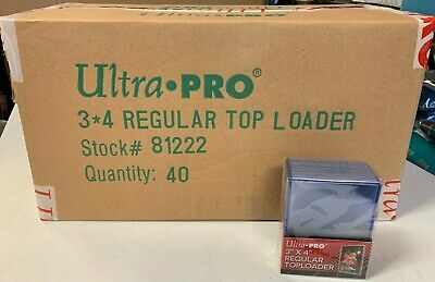 1000 Ultra Pro Regular 3x4 Toploaders sealed case New top loaders + 1000 sleeves