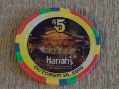 HARRAH'S CASINO & HOTEL $5 casino gaming poker chip (LTD ED) ~ New Orleans, LA