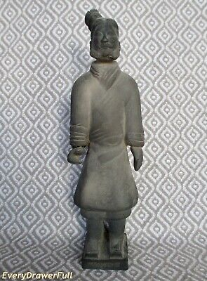 "Vintage Chinese TERRACOTTA WARRIOR Clay Soldier 8"" Statue Figurine RARE"