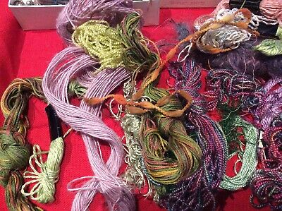 Job Lot  Of Different Textured Threads Ideal For Tapestry Embroidery  Textiles