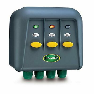Blagdon Powersafe Switchbox , Black, 3 Outlet - New