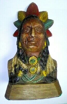 Indian Chief Head Tobacco & Cigar Store Display
