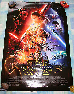 Genuine Multi-Signed Star Wars The Force Awakens Theatrical Poster