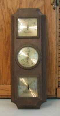 Barometer Taylor Instrument Co N C USA 3 Gauge Weather Station Temp Humidity