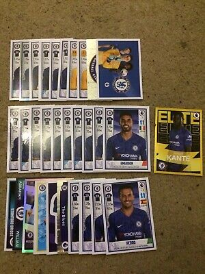 Panini Football 2020 Stickers Complete Set Of 31 Chelsea Stickers Inc Elite