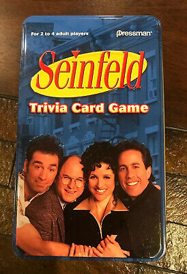 Seinfeld Trivia Card Game in Collectible Tin by Pressman