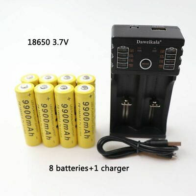 3.7V 9900mAh rechargeable li-ion battery with charger for Led flashlight