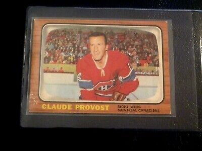 1966-67 Topps Hockey Card# 9 Claude Provost (Montreal Canadiens)   Ex+/ Exmt