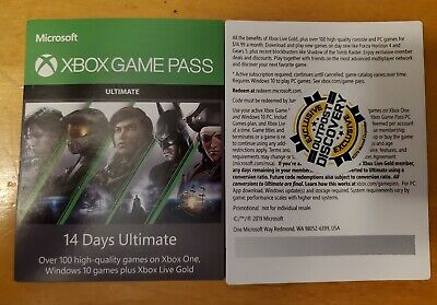 Xbox Live 1 Month Gold & Game Pass Ultimate (2 x 14 Day Trial) Instant Delivery