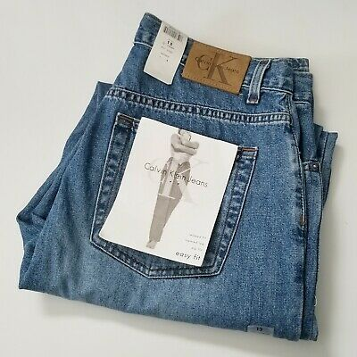 NWT Vintage Calvin Klein Mom Jeans Size 12 Easy Fit High Rise Med Wash *READ*