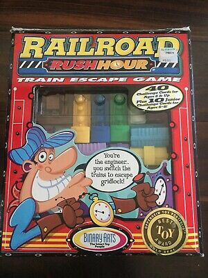 Vintage ThinkFun Railroad Rush Hour Strategy Game 1998 - 100% COMPLETE