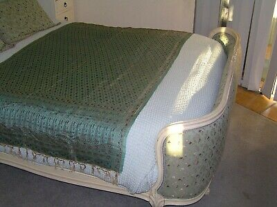 Beautiful Green Double French Antique Bed