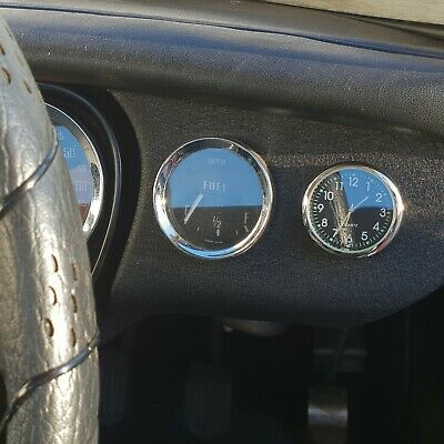 A New Retro Style Classic Car / Mgb Dashboard Analogue Clock.
