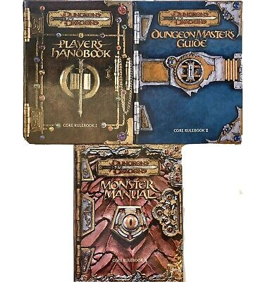 DUNGEONS and DRAGONS - Players Handbook, Dungeon Master's Guide, Monster Manual