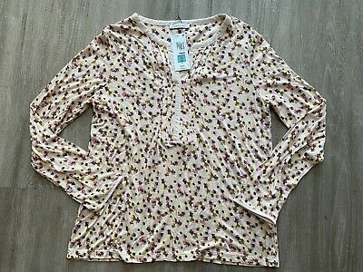 M&S Ladies Pretty Pink Flowery Top 14 Bnwt Marks And Spencer