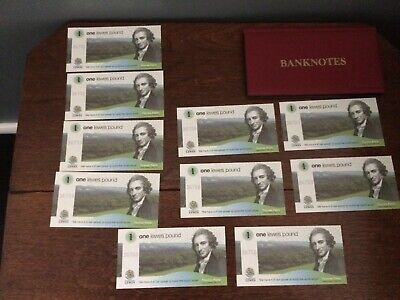 10 X Lewes Transitional £1 1st Series 2nd Run UNC + Schulz Banknote Folder