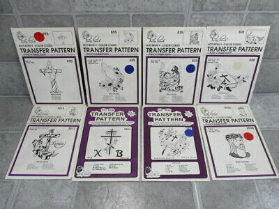 Pretty Punch Embroidery Hot Iron Transfer Patterns Lot of 8 Religious Spiritual