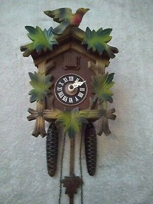 Black Forest Mechanical 30 Hour Cuckoo Clock Excellent Working Condition