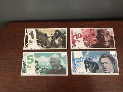 2009 Brixton Pound 1st Issue full Set UNC From my own Personal Collection