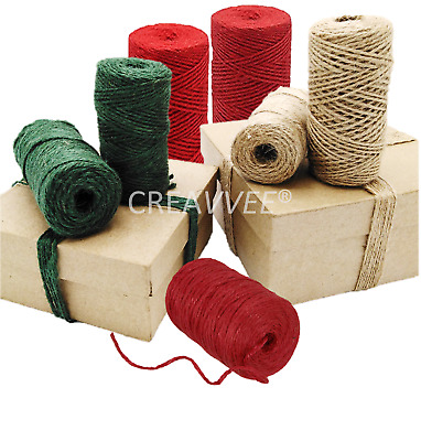 Natural  Green Red 2 Ply  Brown Soft Jute Twine Sisal String Rustic Cord Hessian