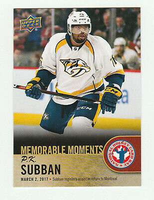 2017-18 UD National Hockey Card Day Canada # 16 P.K. Subban Bonus Card
