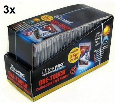 75 ULTRA PRO One Touch Magnetic Holders 35pt UV Gold Magnet New 35 pt point
