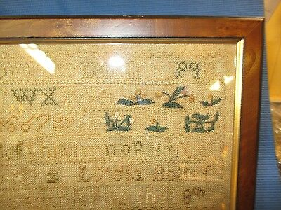 18 Th Century Antique American Hand Done Sampler, Hartford, Ct.