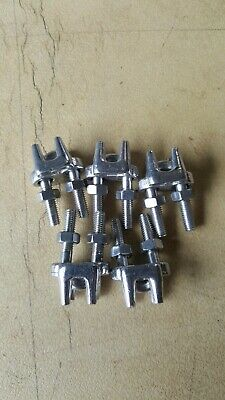 5 Pc 1/4'' Marine Stainless Steel  Heavy Duty Wire Rope Clips Cable Clamp