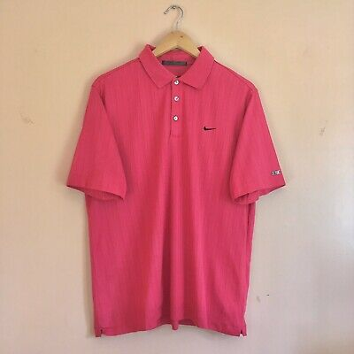 Nike Tiger Woods Pink Golf Polo Shirt Pink Size Large