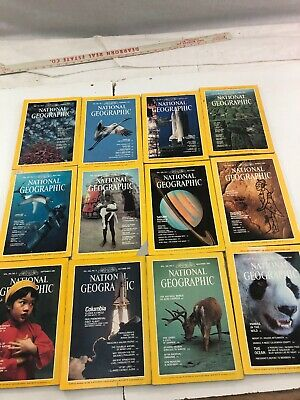Lot of 12 - National Geographic Magazines - Complete Year - 1981