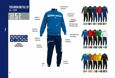 Tuta Givova One  Tt012 Full Zip