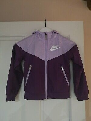 Nike Tracksuit Top Girls Age 6/7 Purple and Lilac - Excellent condition