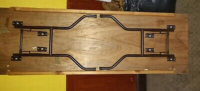 Wooden Trestle Banqueting Table Folding Wishbone legs Plywood. 6ft by 2 ft.
