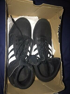 Adidas Mens Size 9 Wrestling Shoes Black White