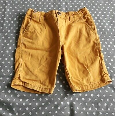 Gorgeous Boys Mustard Chino Shorts Size Age 4-5 Years Summer Denim Co Primark