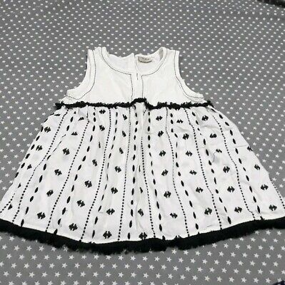Stunning Girls Next Sleeveless Top Monochrome Size Age 9 Years 8-9 Smock Summer