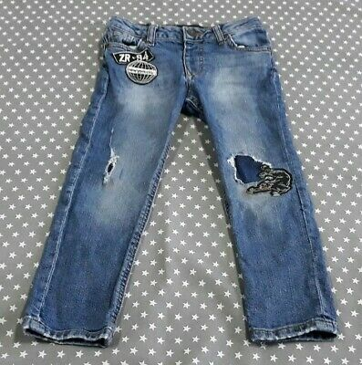 Gorgeous Boys River Island Ripped Skinny Jeans Size Age 5 Years 4-5 Denim